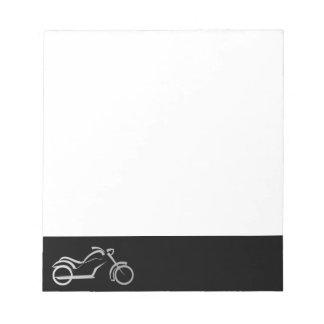 motorcyle motorbike bike biker notepad