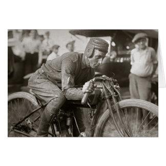 Motorcyle Racer, 1922 Card