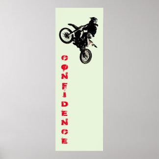 Motorcyle Sport Confidence Pop Art Motivational Poster