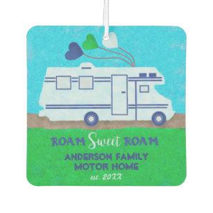 Motorhome RV Camper Travel | Add Family Name V2 Car Air Freshener