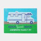 Motorhome RV Camper Travel Van Roam | Custom Name Doormat