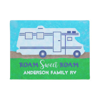 Motorhome RV Camper Travel Van Roam | Custom Name Doormat