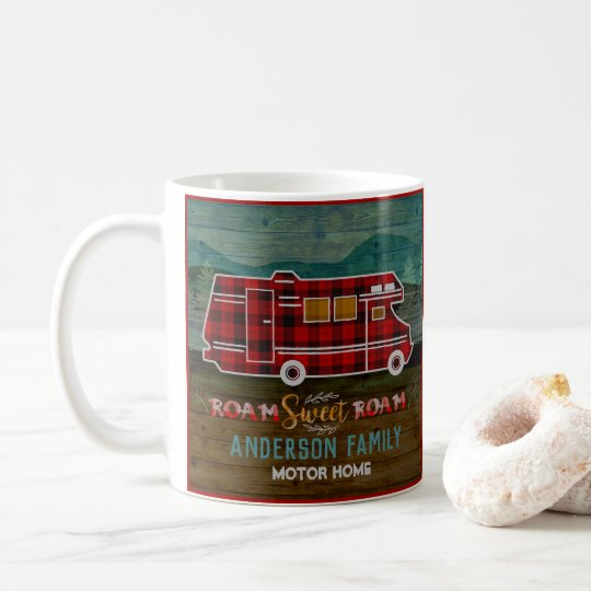 Motorhome RV Camper Travel Van Rustic Personalised Coffee