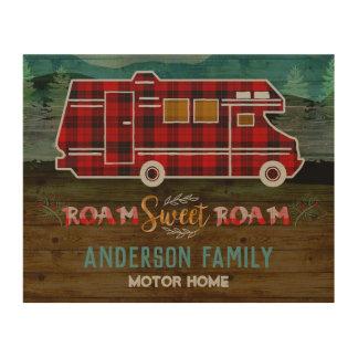 Motorhome RV Camper Travel Van Rustic Personalized Wood Wall Art