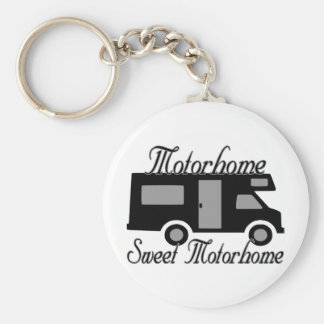 Motorhome Sweet Motorhome RV Basic Round Button Key Ring