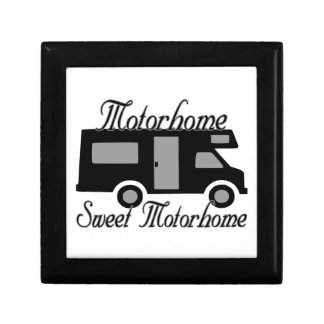 Motorhome Sweet Motorhome RV Small Square Gift Box