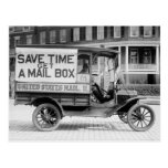Motorized Mail Wagon by the U.S. Post Office Dept. Postcards