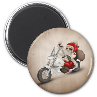 Motorized Santa Claus 6 Cm Round Magnet