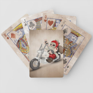 Motorized Santa Claus Bicycle Playing Cards