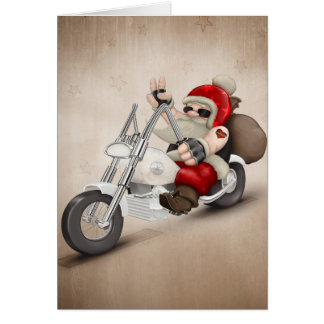 Motorized Santa Claus Card