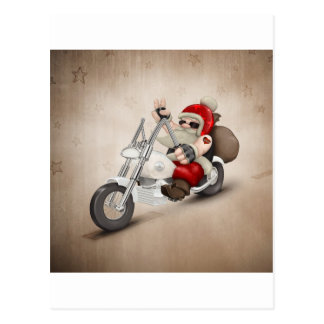 Motorized Santa Claus Postcard