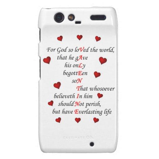 Motorola Razr, Barely There Valentine Droid RAZR Case