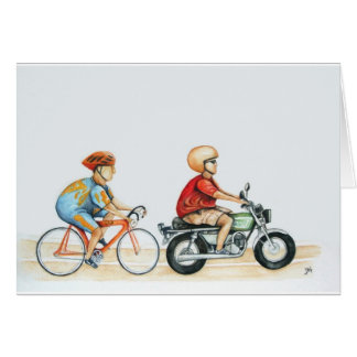 Motorpacing @ the velodrome greeting card