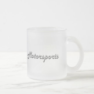 Motorsports Classic Retro Design Frosted Glass Mug