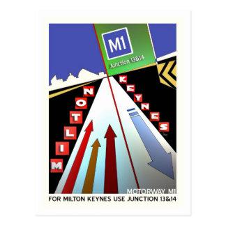 Motorway M1 Milton Keynes postcard