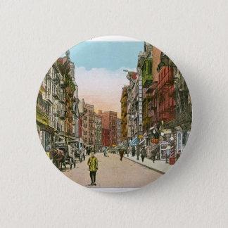 Mott Street, CHINATOWN, New York City (Vintage) 6 Cm Round Badge