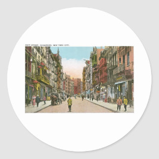Mott Street, CHINATOWN, New York City (Vintage) Stickers