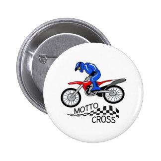 Mottocross Racing 6 Cm Round Badge