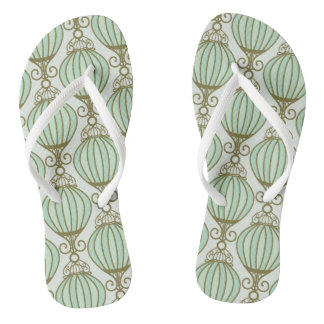 Motton Blue Pattern Flip Flops