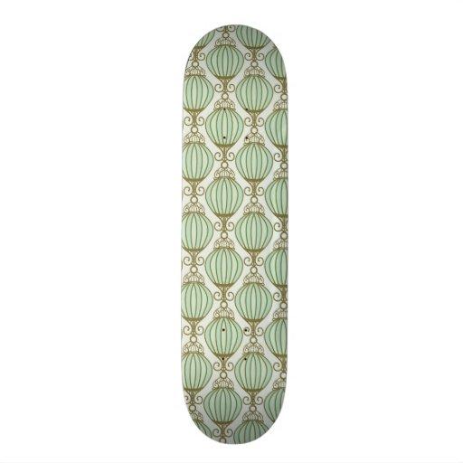 Motton Blue Pattern Skateboard