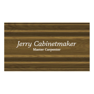 Moulded woodgrain profile pattern pack of standard business cards