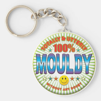 Mouldy Totally Basic Round Button Key Ring