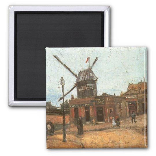 Moulin de la Galette by Vincent van Gogh, Windmill Magnet