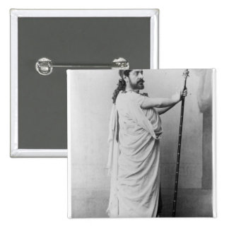 Mounet-Sully  as Oedipus in 'Oedipus Rex' 15 Cm Square Badge