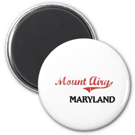 Mount Airy Maryland City Classic Fridge Magnet
