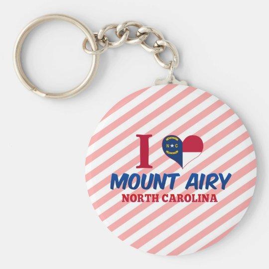 Mount Airy, North Carolina Basic Round Button Key Ring