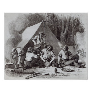 Mount Alexander gold-diggers at evening mess Poster
