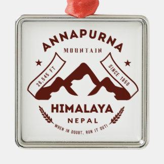 Mount Annapurna Nepal Christmas Ornament