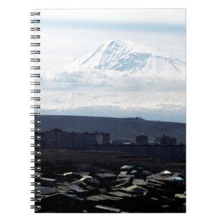 Mount Ararat seen from Yerevan Notebook