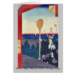 (Mount Atago, Shiba by Andō, Hiroshige Ukiyo-e. Note Card