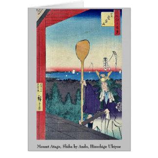 Mount Atago, Shiba by Ando, Hiroshige Ukiyoe Note Card