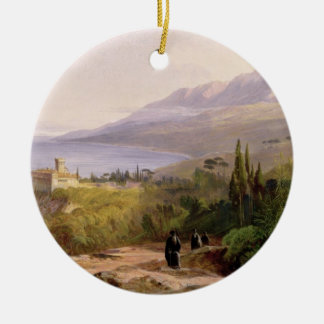 Mount Athos and the Monastery of Stavroniketes, 18 Christmas Ornament