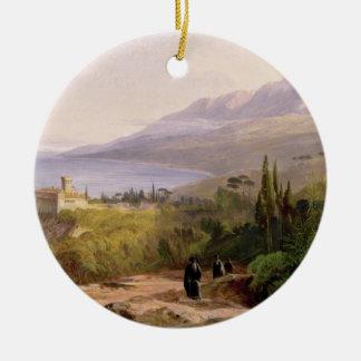 Mount Athos and the Monastery of Stavroniketes, 18 Round Ceramic Decoration