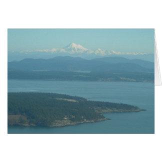 Mount Baker from San Juans Note Card