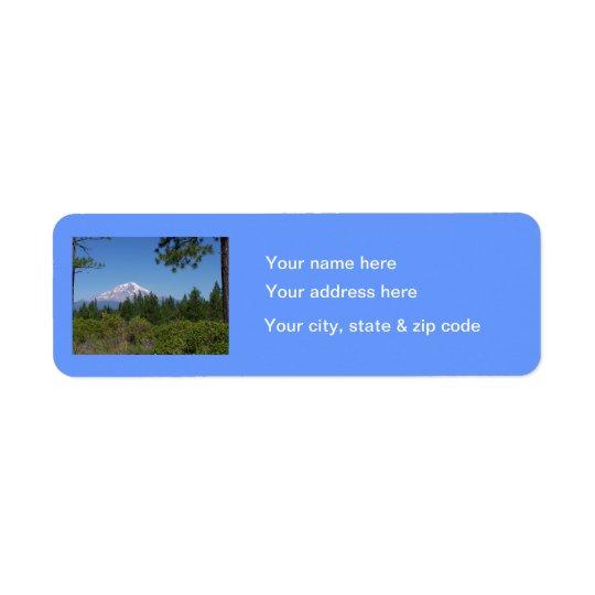 Mount Baker Return Label Return Address Label