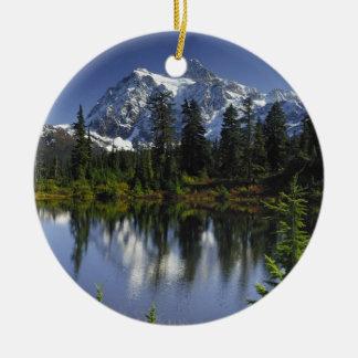 Mount Baker-Snoqualmie National Forest Round Ceramic Decoration