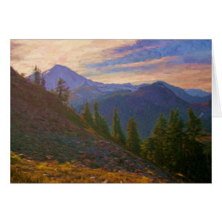Mount Baker sunset Greeting Card