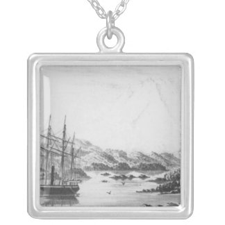 Mount Burney from the Otter Islands Silver Plated Necklace