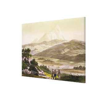 Mount Cayambe, Ecuador, from 'Le Costume Ancien et Stretched Canvas Print