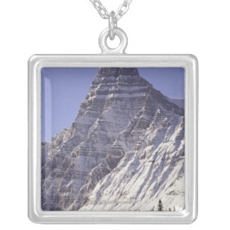 Mount Chepren, Banff National Park, Alberta, Silver Plated Necklace