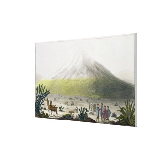 Mount Chimborazo, Ecuador, from 'Le Costume Ancien Stretched Canvas Print
