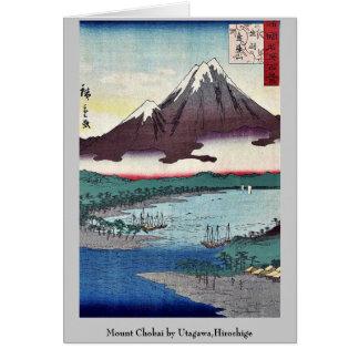 Mount Chokai by Utagawa,Hiroshige Note Card