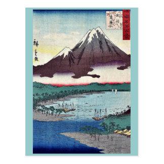 Mount Chokai by Utagawa,Hiroshige Post Card