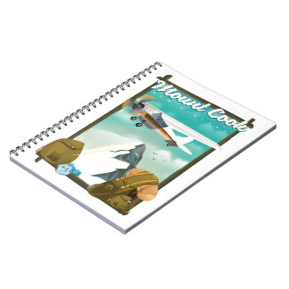 Mount Cook New Zealand travel poster Notebook
