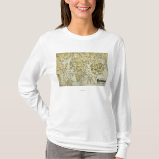 Mount Desert Island and Coast of Maine Map T-Shirt