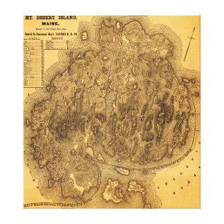 Mount Desert IslandPanoramic Map Canvas Prints